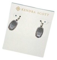 Kendra Scott Grey Elle Silver In Slate Earrings - Tradesy