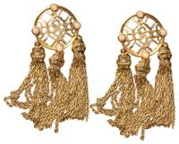 Kendra Scott Gold with Pearl Detailing Tassel Earrings ...