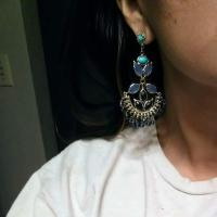 Kendra Scott Blue Lolite Rare Chandelier Earrings - Tradesy