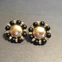 Miriam Haskell Black Pearl Vintage Earrings - Tradesy