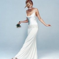Nicole Miller Yoke Bridal Gown Wedding Dress on Sale, 73%