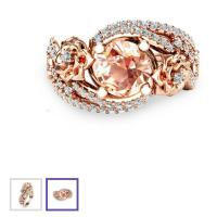 18k Rose Gold Plated Ring #21268071
