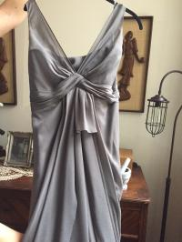 White by Vera Wang Charcoal Gray Chiffon Vw360027 _ V