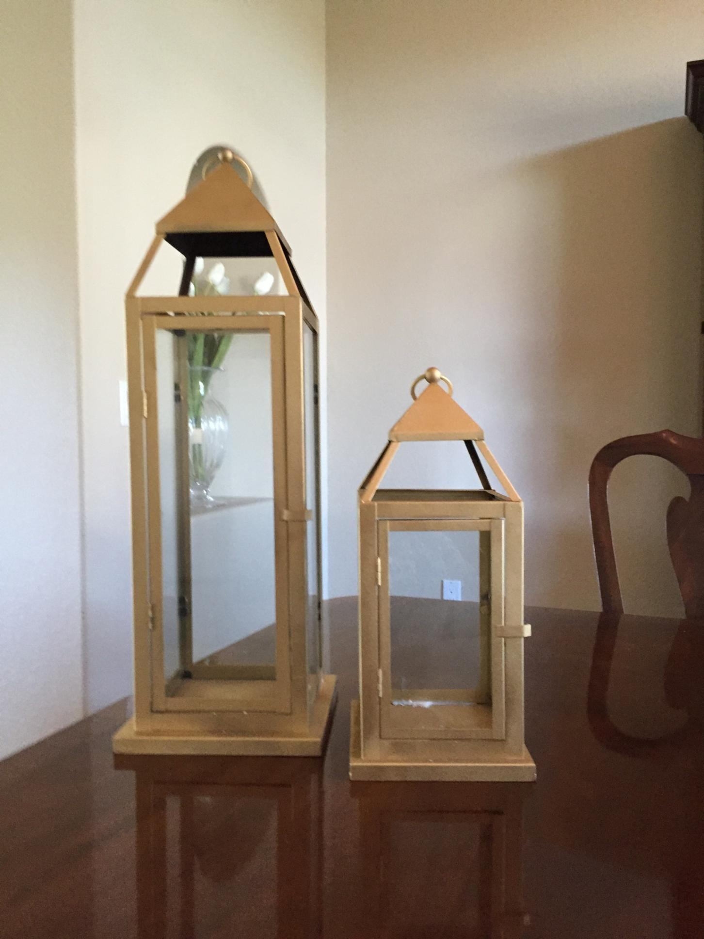 Large Gold Lantern Centerpieces  Tradesy Weddings