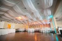 White Ceiling Draping Fabric And Instructions- Dropped ...