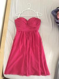 Bill Levkoff Watermelon (Pink) Chiffon Feminine Bridesmaid ...