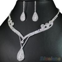 Clear Crystal Necklace and Earring Jewelry Set - Tradesy