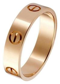 Cartier Love Ring Rose Gold B4084800 Size 8.75
