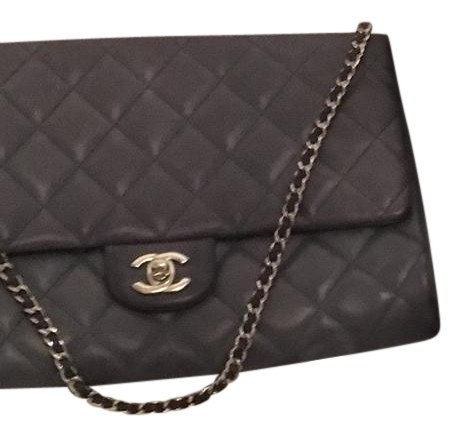 Chanel Classic Clutch Timeless Flap In And Silver Hardware