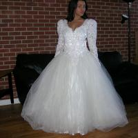 Off White/Cream Satin Vintage Beaded Sequin Lace Bridal ...