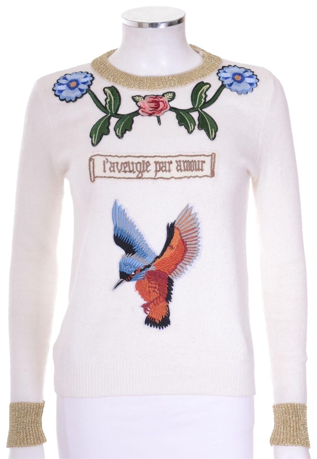 34ace53c Gucci Sweater With Flowers | Gardening: Flower and Vegetables