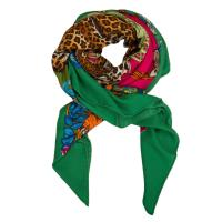 "Herms Hermes ""Jungle Love"" Cashmere and Silk Shawl 140cm"