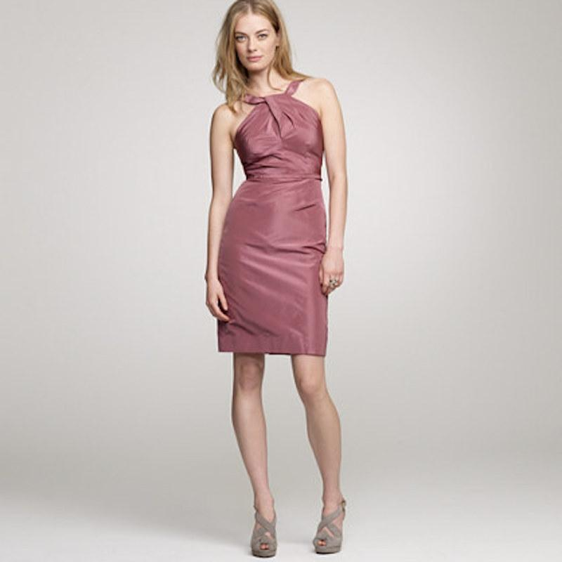 J.Crew Pink Silk Taffeta Gracie Formal Bridesmaid/Mob