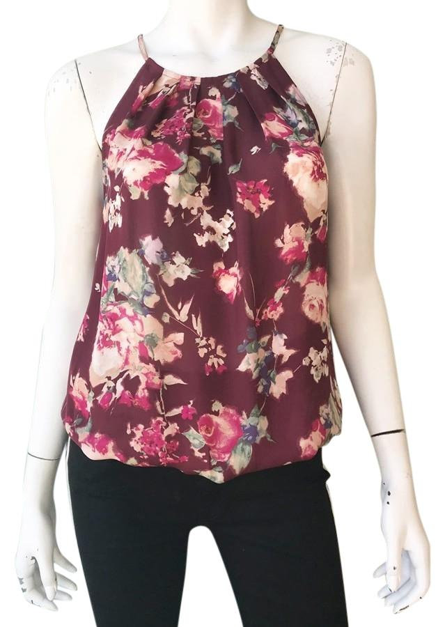 a4273b4f973a08 Joie Red Anatase C Floral Blouse Size 8 (M) Tradesy