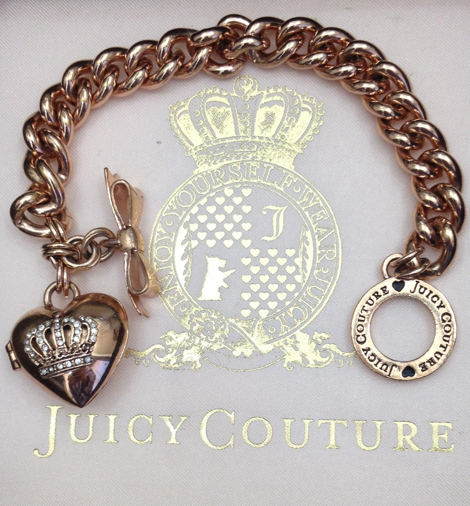 Juicy Couture Rose Gold Charm Bracelet - Tradesy