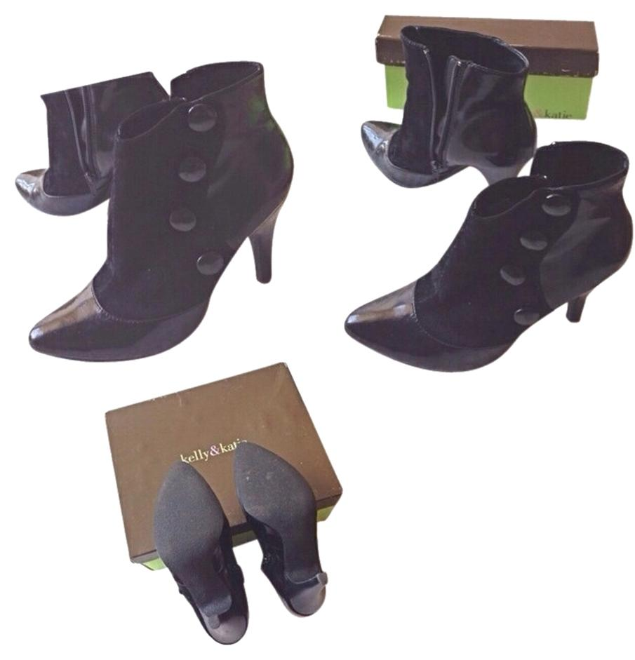 Kelly & Katie Button Black Boots 45