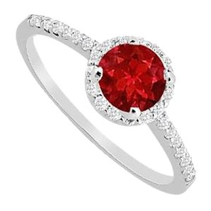 Lovebrightjewelry 1 Ct Cubic Zirconia And Created Ruby