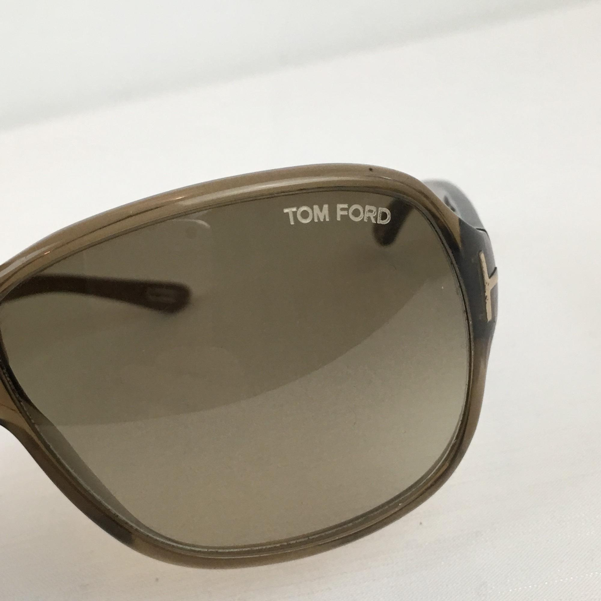 Tom Ford Brown Clear Hutton Silver T With Case Sunglasses