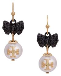 Tory Burch Crystal Bow Pearl Drop Earrings - 45% Off ...