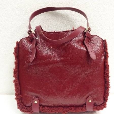 Tory Burch Patent Shearling Channing Tall Sold Red