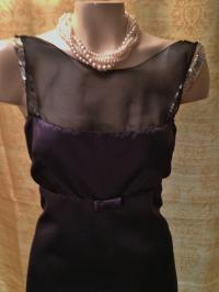 Vera Wang Charcoal/Black/Silver Satin/ Modern Bridesmaid ...