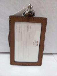 Coach Brown Leather Lanyard Id Card Badge Holder New W ...