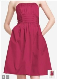 David's Bridal Pink Bridesmaid Dress Watermelon #83312 ...