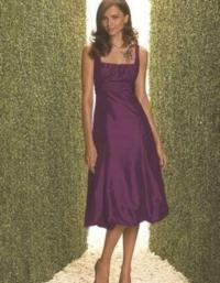 Dessy Purple Taffeta 2060 Formal Bridesmaid/Mob Dress Size ...