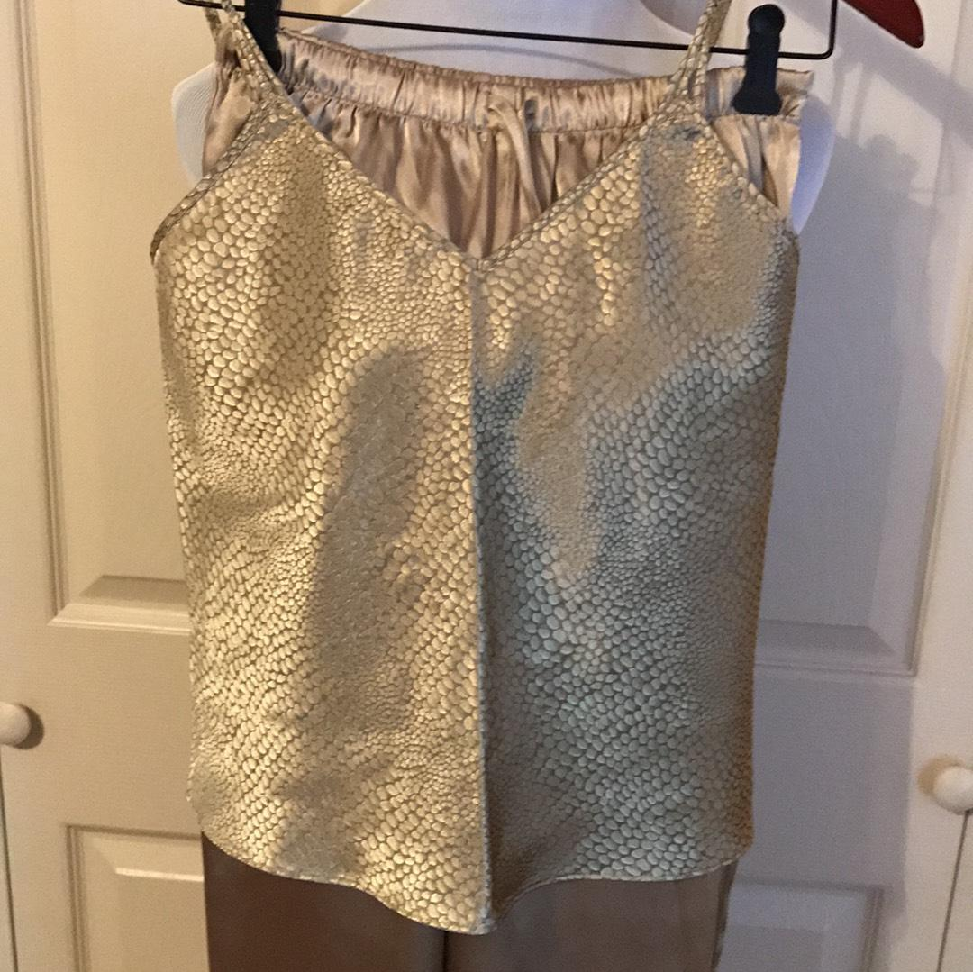 Gilligan & 'malley Black And Gold Activewear Bottoms Size