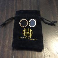 House of Harlow 1960 Black and Gold Sunburst Button ...