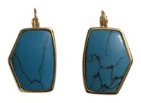 Kate Spade Turquoise and Gold Faux Earrings - Tradesy