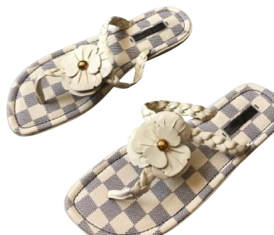 bf11b939645 Louis Vuitton Azur Flower Flip Flops Sandals Size Us 9 Regular (M