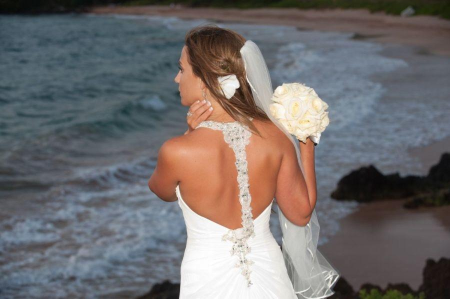 Maggie Sottero Ivory Chiffon Reese Destination Wedding