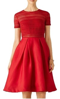 Red Mid-length Cocktail Dress Size 12 (L) - Tradesy