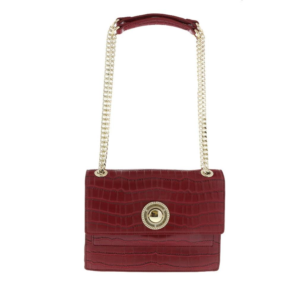 0a52e99df Versace Handbag Red Suede Leather Shoulder Bag Tradesy - Year of ...
