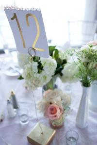 18 Metallic Gold Wire And Wood Block Wedding Table Number ...
