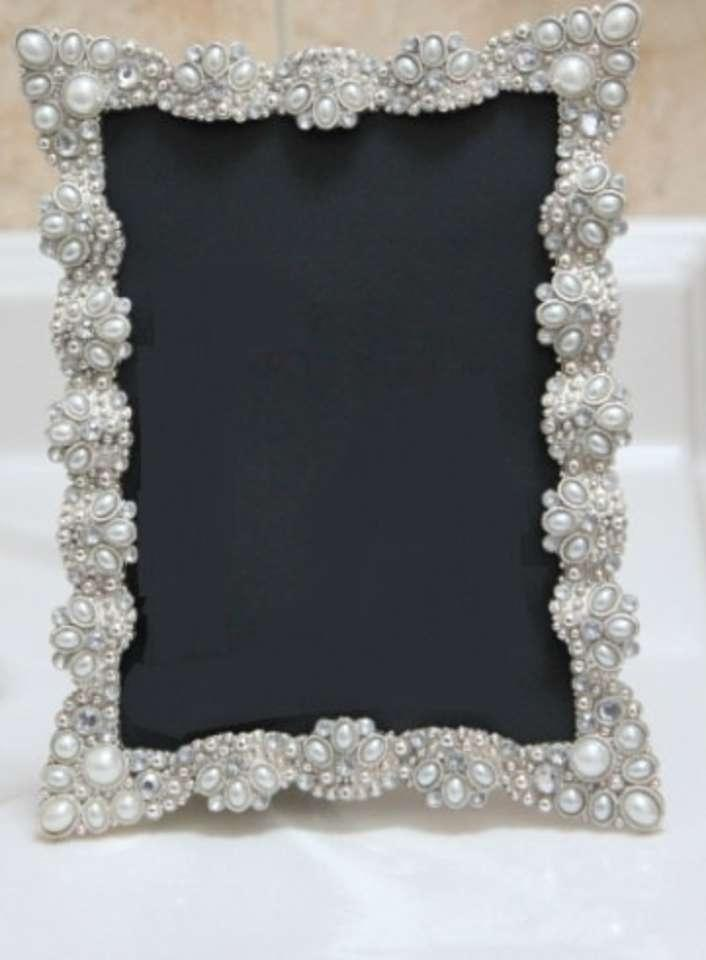 10 Vintage Style Jeweled Rhinestone Frame Bling Silver Diamond Table Number Frames Ornate