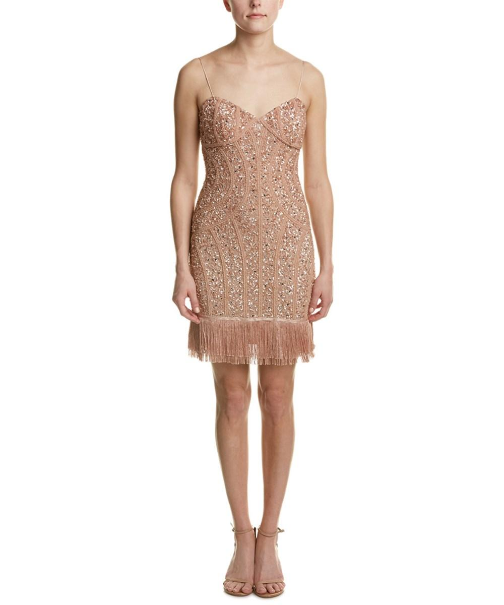 Aidan Mattox Sequined Fringe Cocktail Dress - 41 Retail