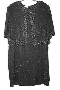 Black Silk Brilliante Formal Bridesmaid/Mob Dress Size 28 ...