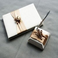 Blush Ivory Wedding Guestbook And Pen Set