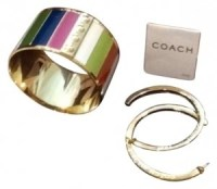 Coach Wide Bangle with matching Hoop Earrings - Tradesy