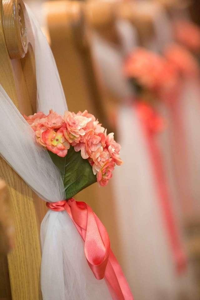 Coral Pew Bows Ceremony Decoration Tradesy