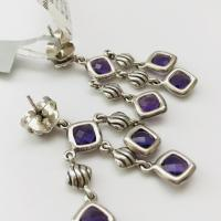 David Yurman Sterling Silver Amethyst Sculpted Cable ...