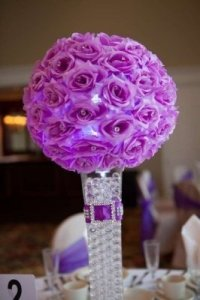 Elegant Purple Wedding Centerpieces And Decorations - Tradesy