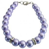 Flower Girl Bracelet Lilac Pearls Attractive Jewelry ...