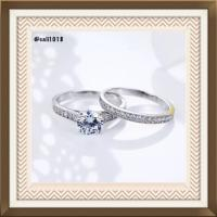 SUMMER CLEARANCE 2pc Wedding Ring Set; 1.25CW 77% Off ...
