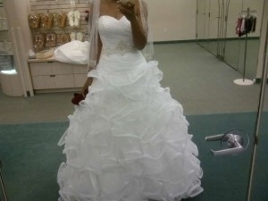 Galina Ball Gown With Embellished Waist And Ruffled Skirt