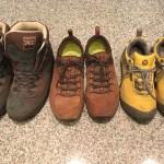 我が家のキャンプ靴、登山靴!レポ!