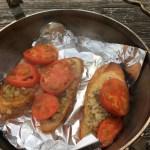 【ダッチオーブン】オイルサーディン&バケットのオーブン焼き
