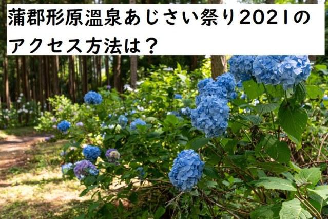 蒲郡形原溫泉あじさい祭り2021のアクセス方法は?